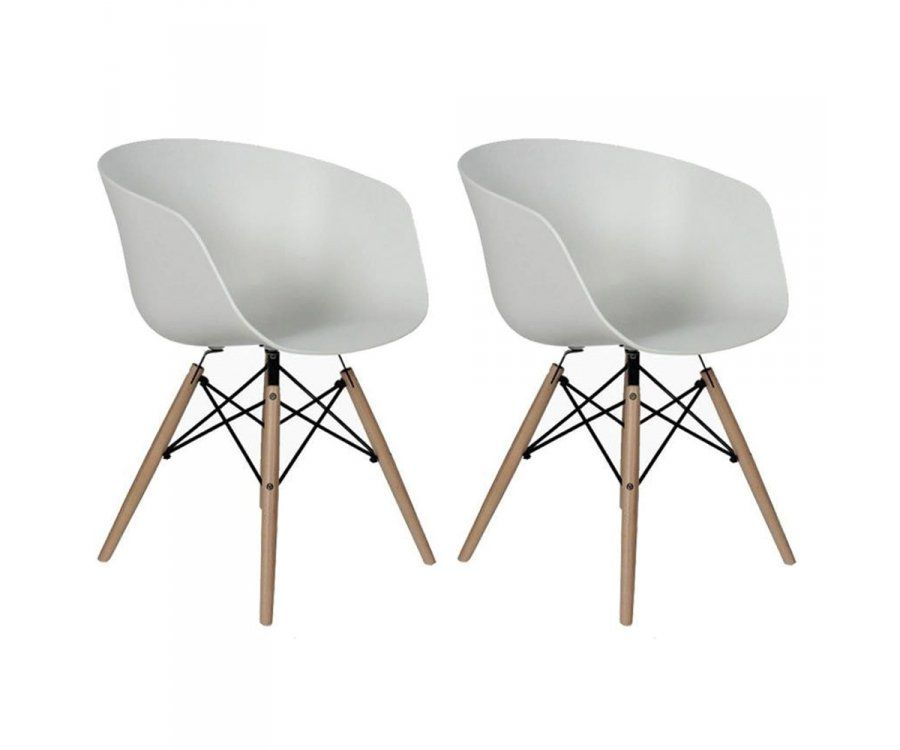 Lot 2 fauteuils scandinaves RAY
