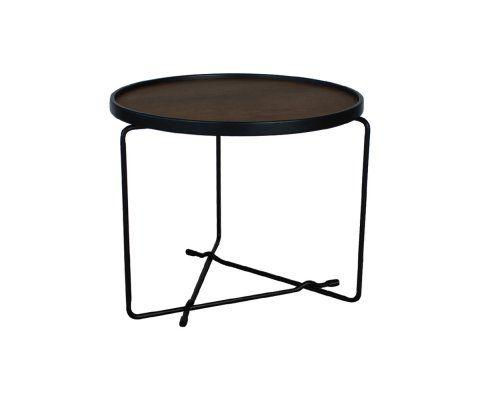 Petite table basse design bois métal WINEL