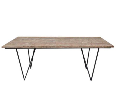Table à manger bois naturel bohème-SOLO