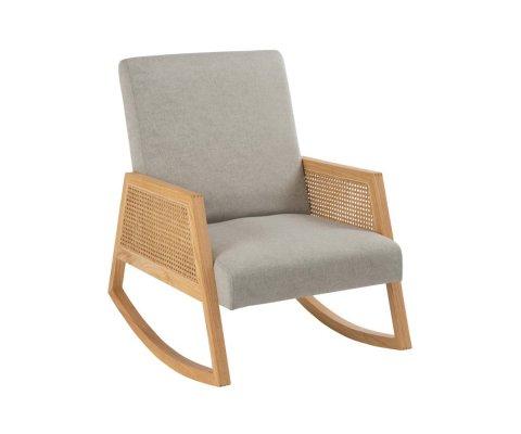 Chaise à bascule bois scandinave-RELIO