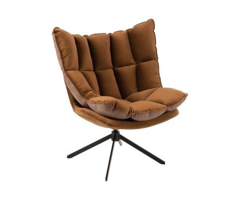 Fauteuil lounge moderne en tissu ZALA