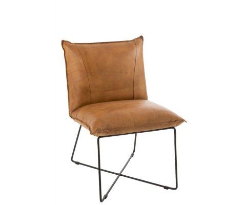 Petit fauteuil design en cuir FOLI