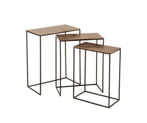 lot de 3 tables gigognes industrielles-MANGOLO