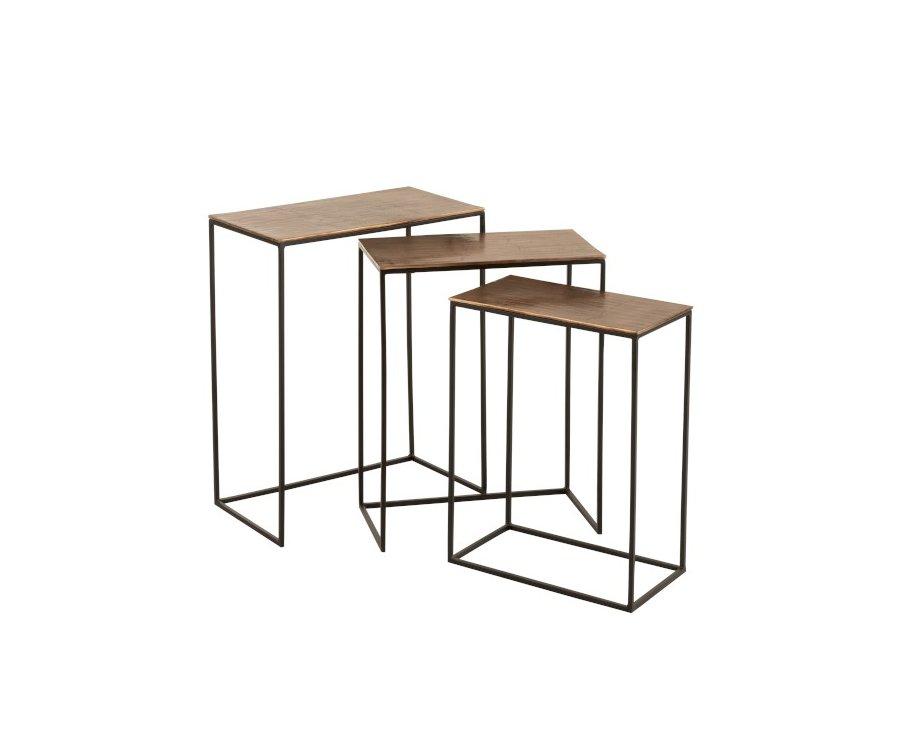 lot de 3 tables gigognes industrielles-MANGOLO