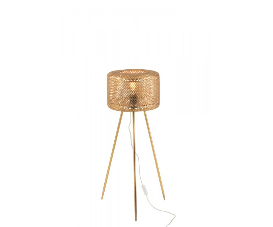 Lampe trépied métal-OLORA