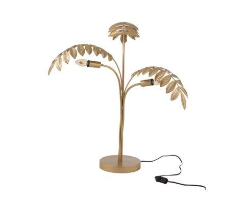 Lampe à poser doré palmier PALMYRE