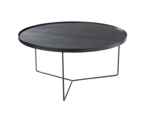 Table basse ronde minimaliste en bois et métal FAFA