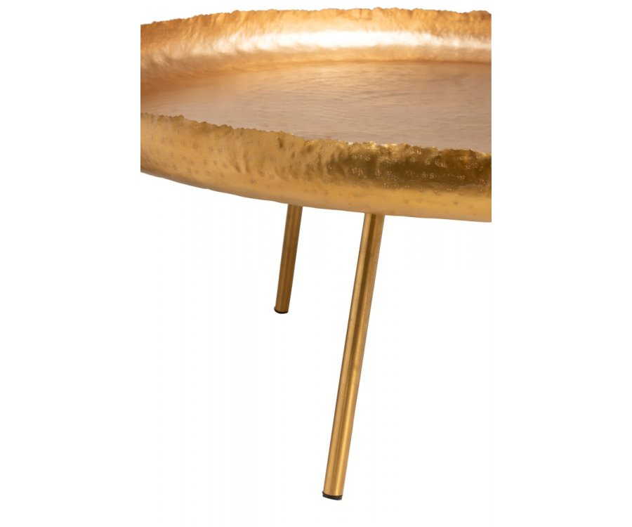 Table de salon ronde métal bohème-LOFA