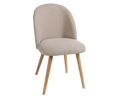 Chaise scandinave en tissu VINCENT