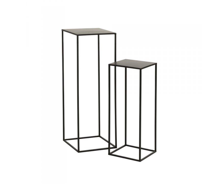 Set de 2 tables d'appoint gigognes en métal GIGNE