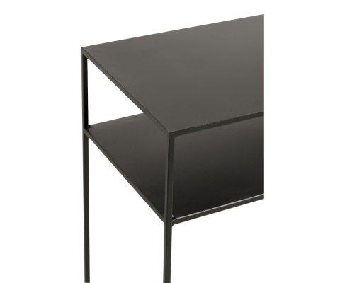 Console d'entrée minimaliste en métal noir RIOLO