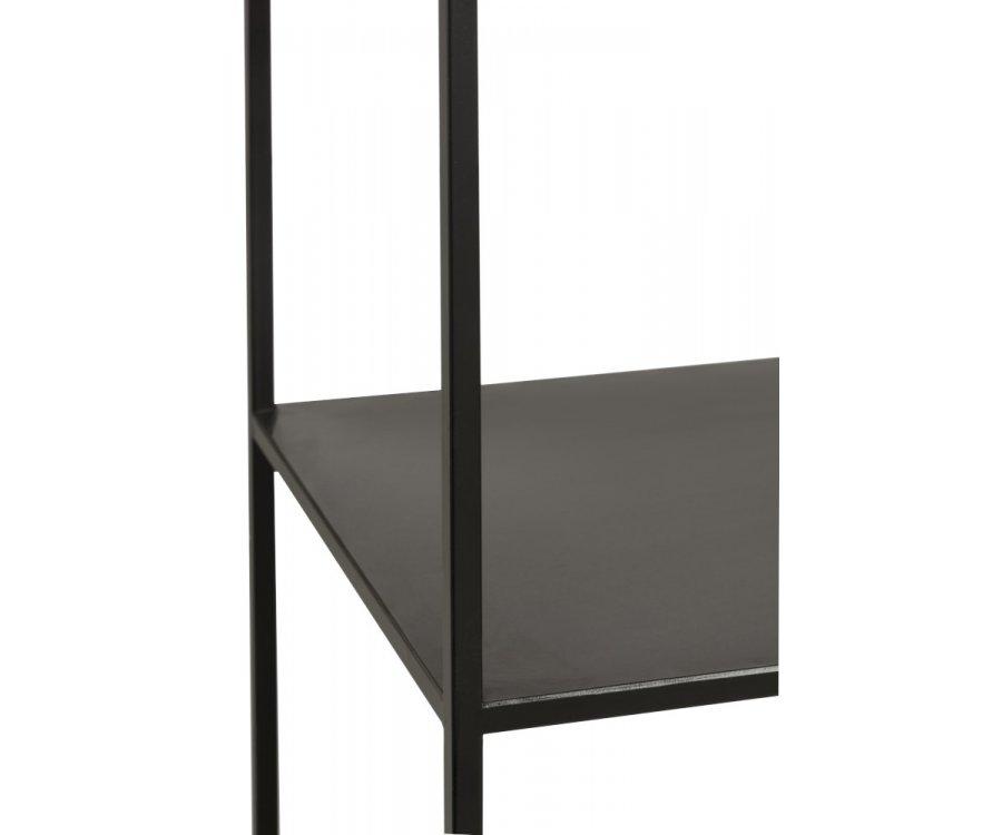 Etagère colonne en métal noir BOMA