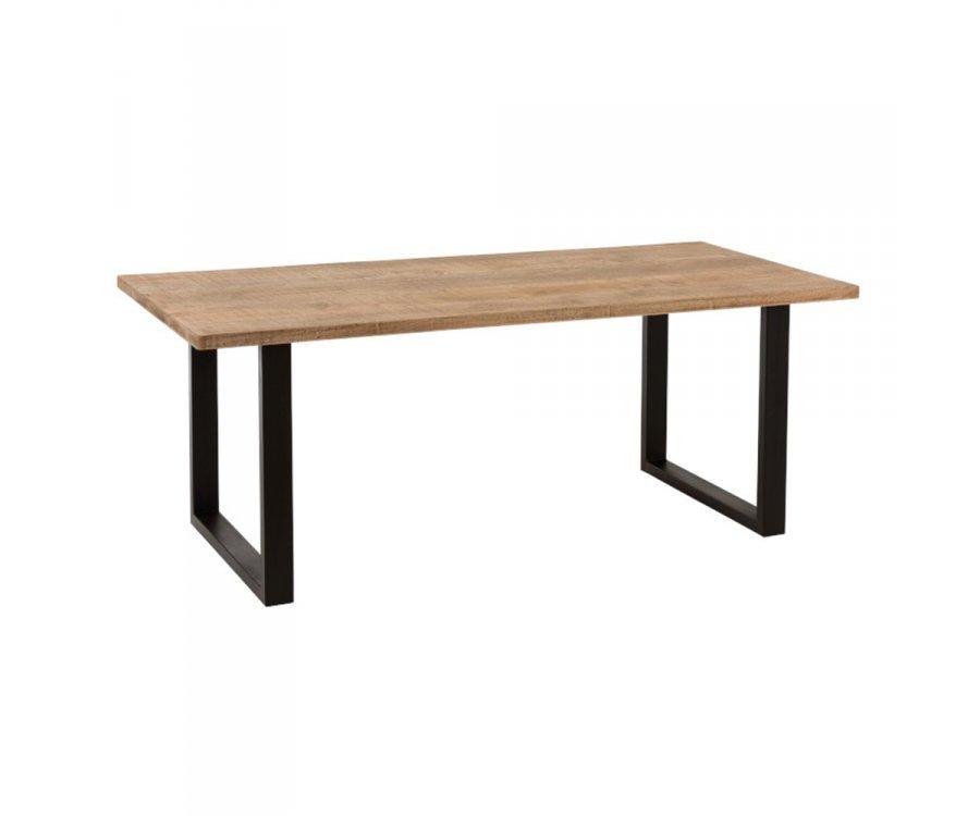 Table à manger design 203cm en bois et métal GRETA