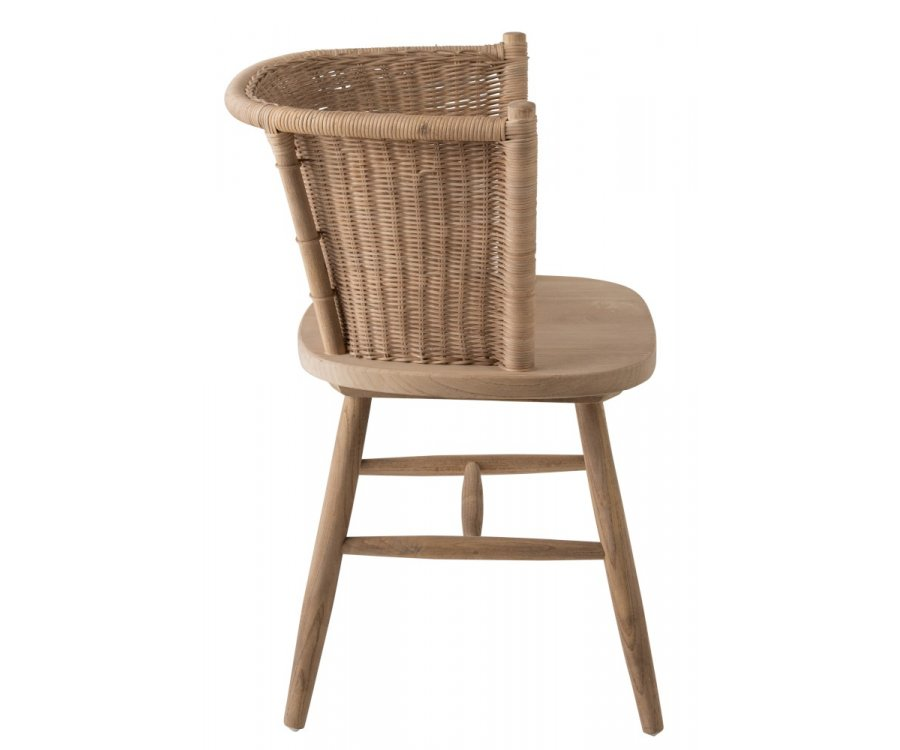 Chaise rotin naturel-TERESA