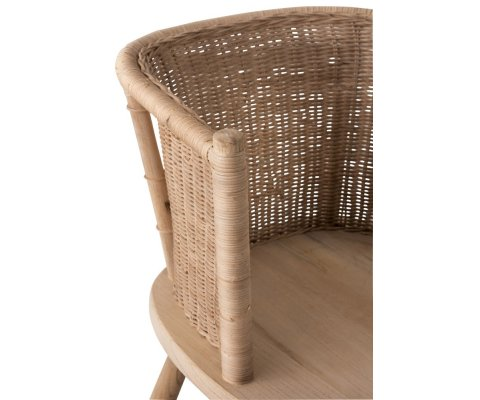 Chaise rotin naturel-TERESA