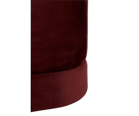 Pouf carré vintage velours-SIO