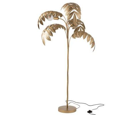 Lampadaire palmier en métal doré JERBA