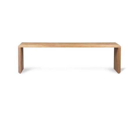 Banc minimaliste en bois de teck SUZETTE