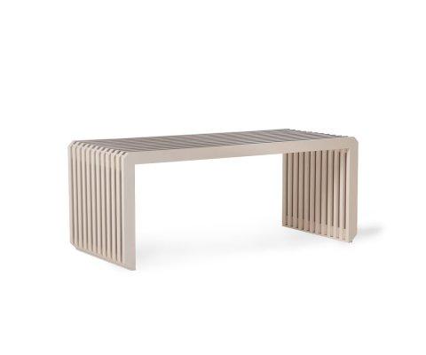 Banc contemporain en bois clair LUNETTE