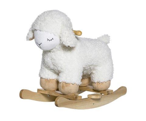 Cheval à basule blanc forme mouton MOUTI