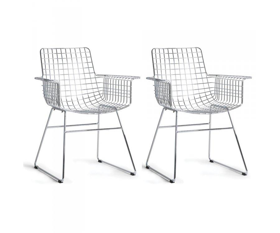 Lot de deux chaises lounge métal-KOMI