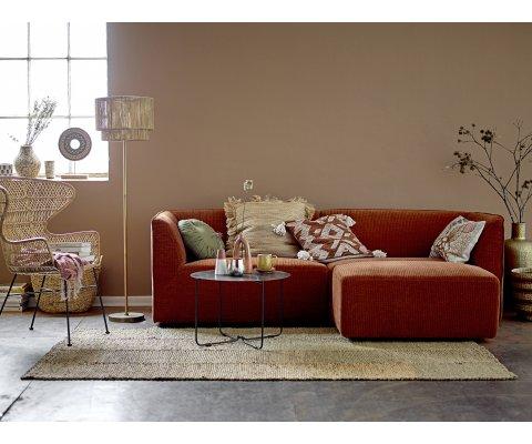 Chaise lounge rotin bohème-GEORGETTE