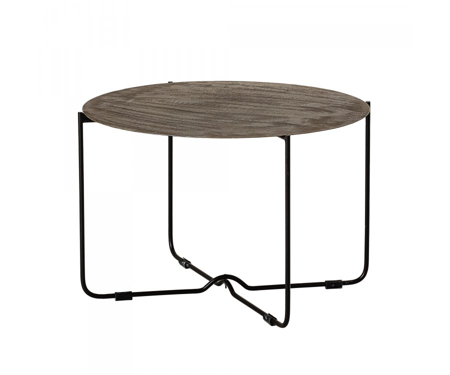 Table d'appoint ronde métal-ADELIE