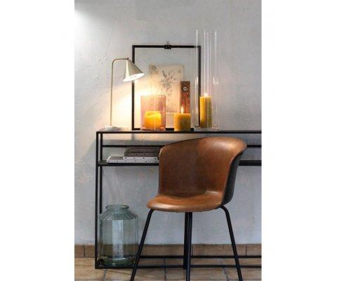 Lampe de bureau en métal doré et marbre ALIX