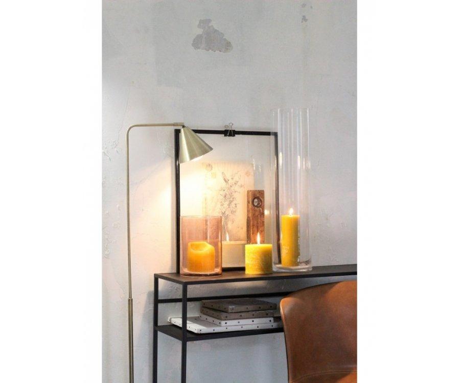 Lampadaire contemporain en métal doré ALIX