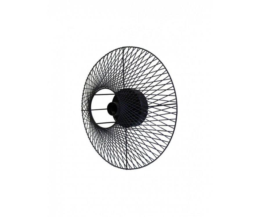 Applique design en métal noir AGNES