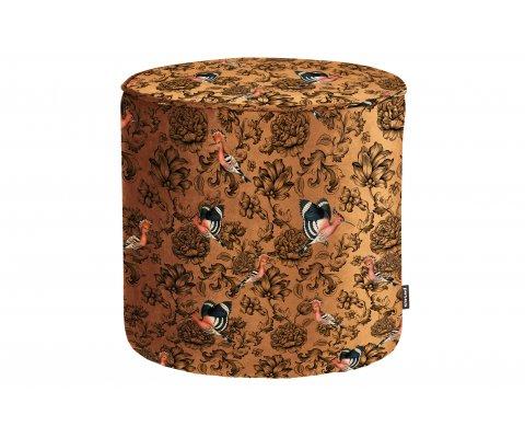 Petit pouf design rond tissu fleuri SAMPAIO