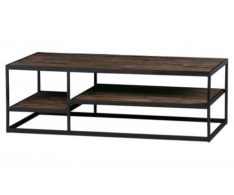 Table basse industrielle en bois et métal JELTA