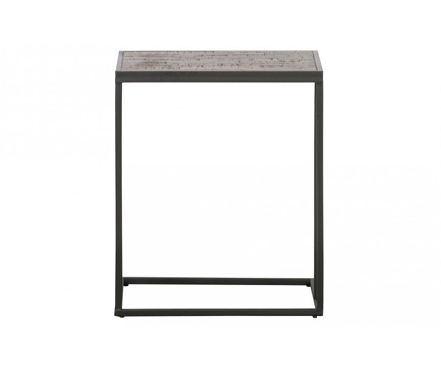 Table d'appoint minimaliste en bois et métal PAULA