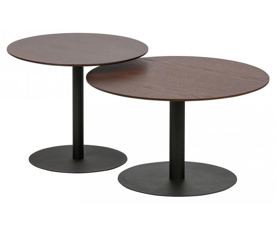 Table basse ronde 48cm plateau bois DONNAK