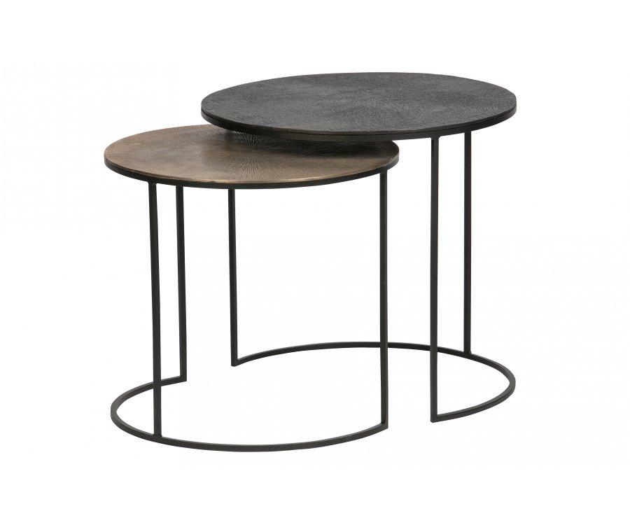 Tables gigognes tendance en métal antique CARLA
