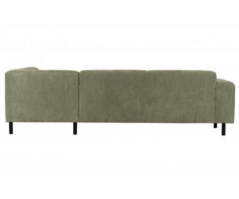 Canapé d'angle droit moderne en tissu RISLEY
