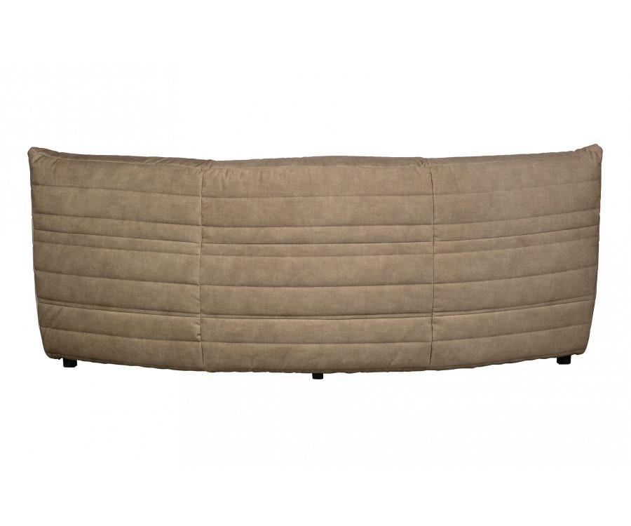 Petit canapé arrondi section angle en velours BAGGY