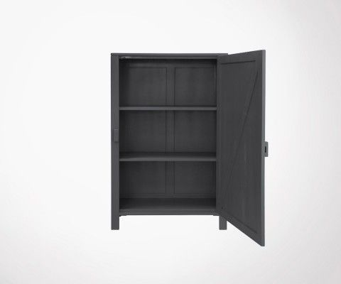 LOCKY Single Door Cabinet - Charcoal