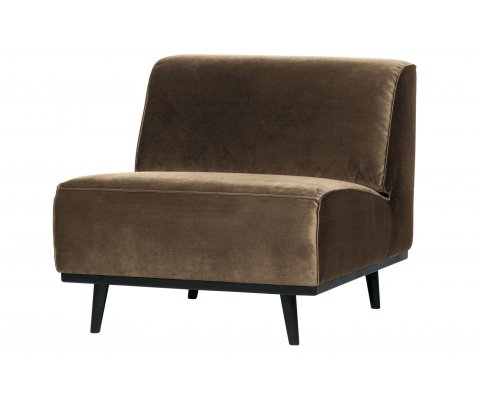 Fauteuil design contemporain en velours STATEMENT
