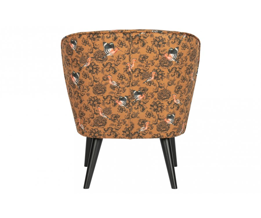 Petit fauteuil en tissu fleuri SAMPIO