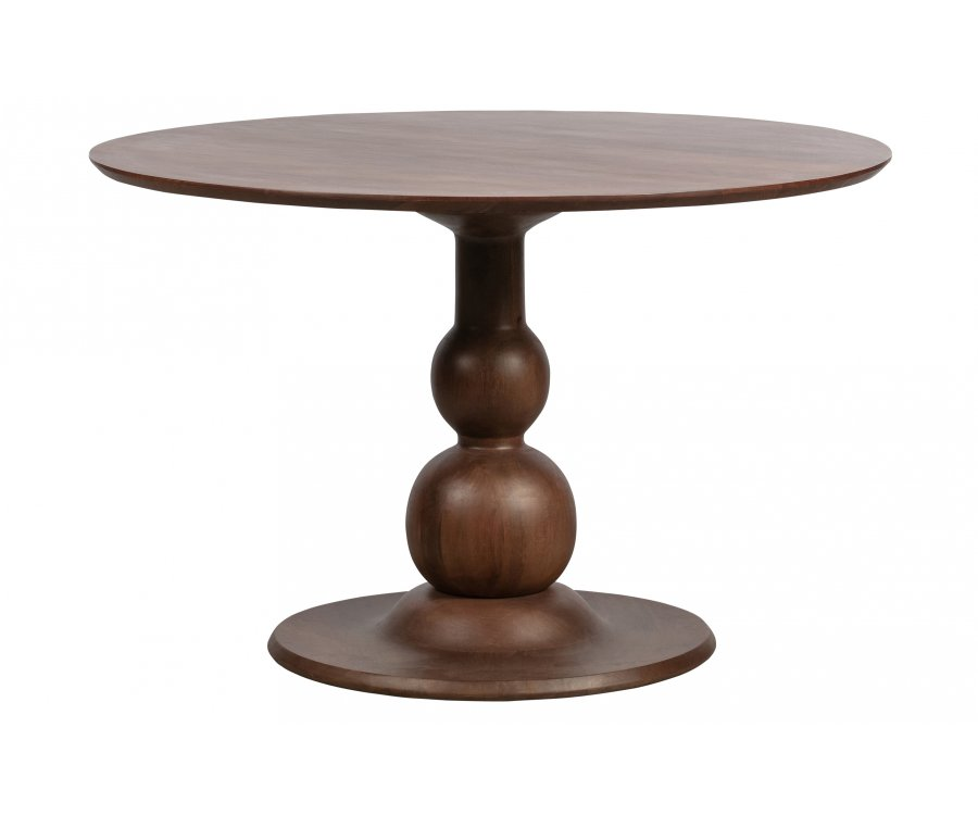 Table à manger ronde 120cm vintage en bois MIONE