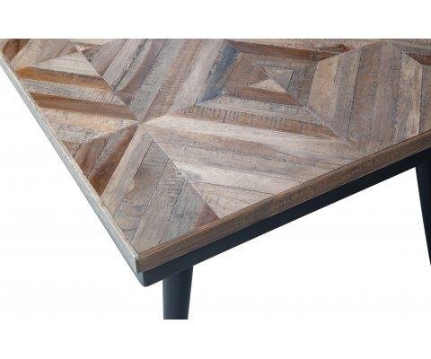 Table basse rectangulaire en bois et métal RUBY