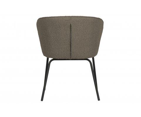 Lot de 2 chaises design en velours ADRIENNE