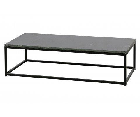 Table basse 120x60 en marbre noir RAKA