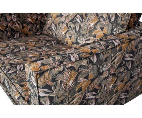 Fauteuil moderne tissu fleuri COLORADO