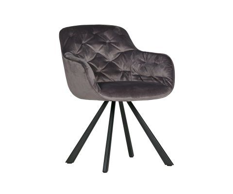 Chaise design velours satiné ELIAN