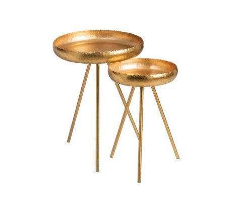 Set de 2 tables gigognes métal boème-LOFA