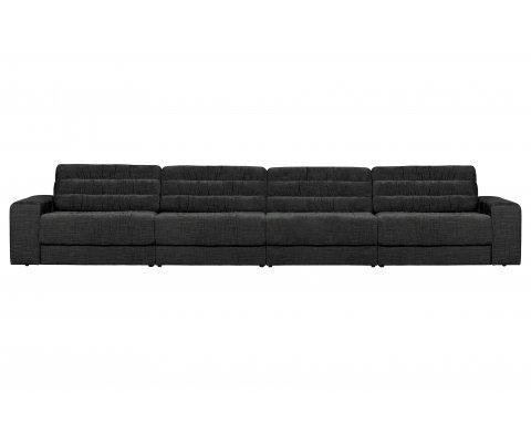 Grand canapé 406cm style vintage en velours ROCK