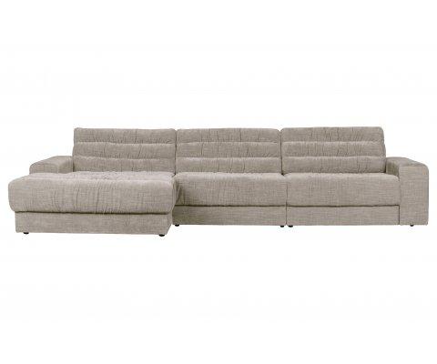 Canapé d'angle gauche style rétro ROCK