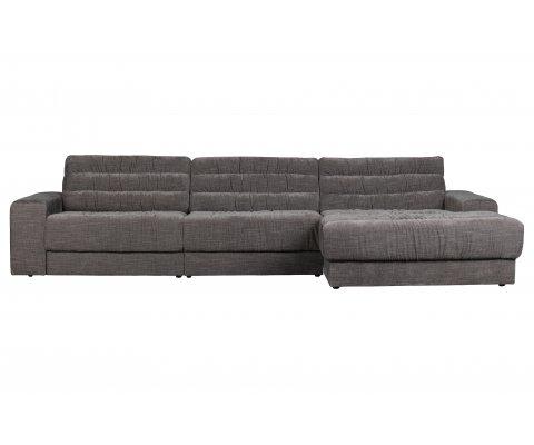 Canapé vintage angle droit en velours ROCK